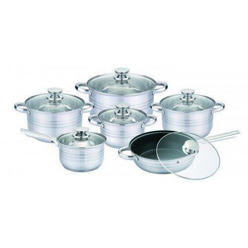 Набір посуду (кастрюль) з 6 предметів Unique UN-5033, каструлі з кришками , нержавіюча сталь