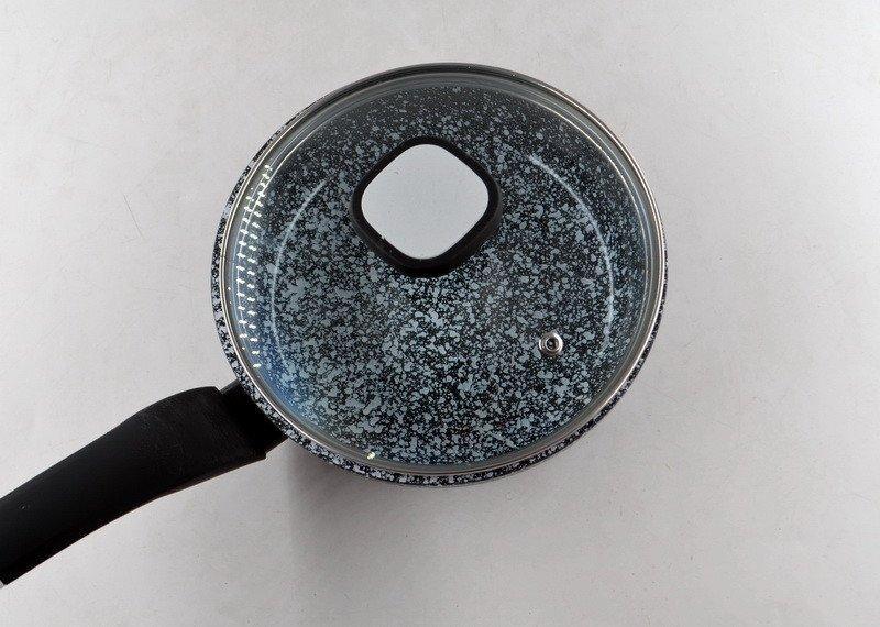 Сковорода с крышкой, антипригарное гарнитное покрытие Unique UN-5112 (18 см)
