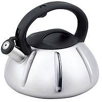 Чайник зі свистком Unique UN-5304 (3 л) з нержавіючої сталі, для всіх типів плит
