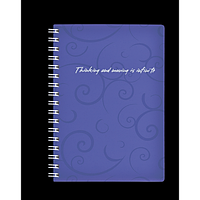 Записна книжка на пружині BAROCCO, А6, 80 аркушів, клітинка, фіолетовий