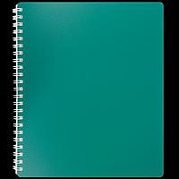Зошит для записів на пружині CLASSIC, B5, 80 аркушів, клітинка, зелений