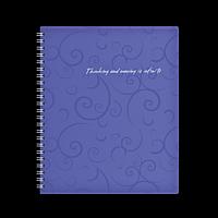 Зошит на пружині BAROCCO, В5, 80 аркушів, клітинка, фіолетовий