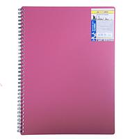 Зошит на пружині CLASSIC, А4, 80 аркушів, клітинка, червоний