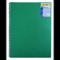 Записна книжка на пружині CLASSIC, А6, 80 аркушів, клітинка,зелений