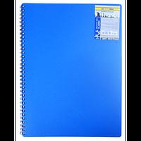Записна книжка на пружині CLASSIC, А6, 80 аркушів, клітинка,синій