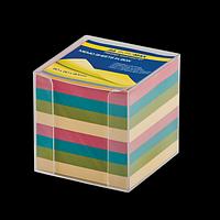 Бокс с кольоровим папером 90х90х90мм, прозорий