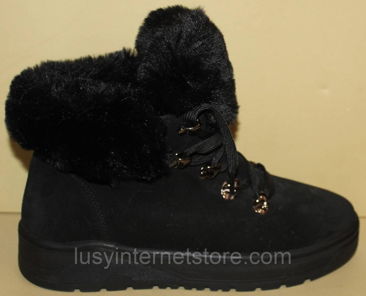 Ботинки женские зимние замшевые на платформе от производителя модель АС13-3