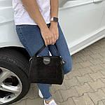 Женская сумка черная замш Zara   (1534), фото 3