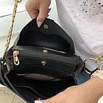 Женская сумка черная замш Zara   (1534), фото 4