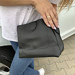 Женская сумка черная замш Zara   (1534), фото 5