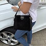 Женская сумка черная замш Zara   (1534), фото 6
