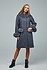 Зимнее пальто женское с меховыми вставками, с 44 по 54 размер