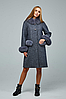 Зимове пальто жіноче з хутряними вставками, з 44 по 54 розмір