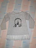 Теплое детское платье для девочки с начесом 122 см