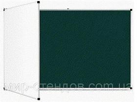 Доска аудиторная магнитная комбинированная 225х100 см Интеллект