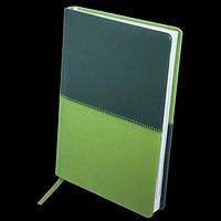 Щоденник недатований QUATTRO, A5, темно-зелений + світло-зелений, фото 1
