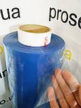Пленка ПВХ силиконовая 150 мкм. плотность.Рулон 103м.Ширина 1.50м.Прозрачная.Текстильная, защитная, фото 2