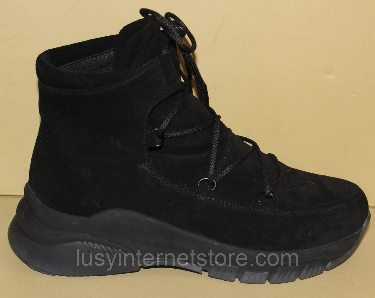 Ботинки женские зимние замшевые на платформе от производителя модель АС15