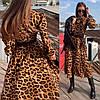 Женское платье с модным принтом и поясом в расцветках. ЛД-5-0219, фото 8