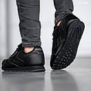 Мужские зимние кроссовки на меху в стиле Reebok Classic, кожа, полиуретан, черные 44 (28 см), фото 5