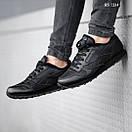 Мужские зимние кроссовки на меху в стиле Reebok Classic, кожа, полиуретан, черные 44 (28 см), фото 6