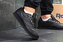 Мужские зимние кроссовки на меху в стиле Reebok Classic, кожа, полиуретан, черные 41 (26 см), фото 3