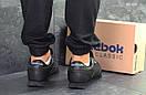 Мужские зимние кроссовки на меху в стиле Reebok Classic, кожа, полиуретан, черные 41 (26 см), фото 4