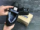Мужские зимние кроссовки на меху в стиле Reebok Classic, кожа, полиуретан, черные 41 (26 см), фото 6