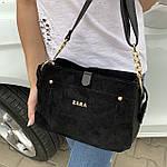 Женская сумка черная замш Zara   (1515), фото 2