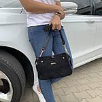 Женская сумка черная замш Zara   (1515), фото 4