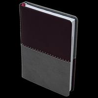 Щоденник недатований QUATTRO, A5, бордовий + сірий