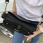 Женская сумка черная замш Zara   (1515), фото 5