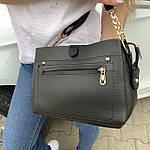 Женская сумка черная замш Zara   (1515), фото 10