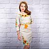 """Жіноча сукня з вишивкою """"Сонячне""""  хрестиком, фото 3"""