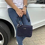 Женская сумка синяя Zara замш   (1536/1), фото 2