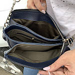 Женская сумка синяя Zara замш   (1536/1), фото 7