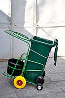 Тележка для уборки мусора с усиленной подвеской