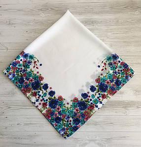 Женский шерстяной платок Цветочный Рай