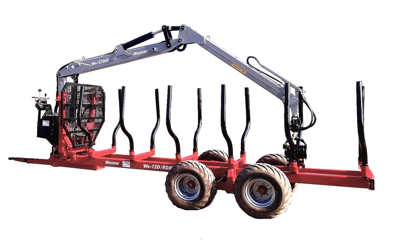 Полуприцеп тракторный лесовозный We-12D/RDM (усиленный) с манипулятором (Weimer)