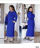 Женское стильное платье - двойка  ОМ683 (бат), фото 1