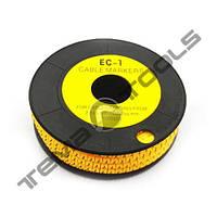 Маркер кабельный EC-1 до 1,5-2,5 мм²