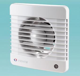 Побутовий безшумний енергозберігаючий вентилятор Вентс 100 М Силента