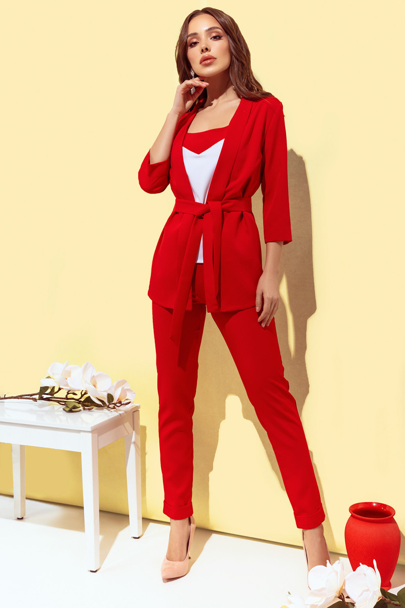 Женский костюм тройка Красный