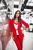 Женский костюм тройка Красный, фото 4