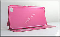 Розовый чехол-книжка Double Window для смартфона Lenovo S90, S90e, Sisley, фото 1