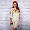 """Жіноча сукня з вишивкою """"Королівські квіти"""", фото 2"""