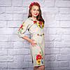 """Жіноча сукня з вишивкою """"Королівські квіти"""", фото 3"""