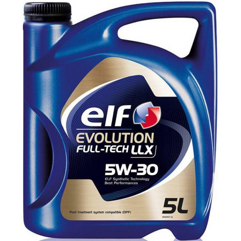 Моторное масло Elf EVOL. FULLTECH LLX 5w30 (Канистра 1л, 5л)