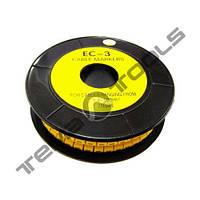 Маркер кабельный EC-3 до 4-6 мм²