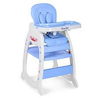 Детский стульчик для кормления с регулируемой спинкой 2в1 Bambi M 3612-12 голубой